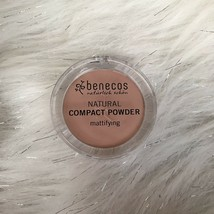 Brand New Benecos Natural Mattifying Compact Powder Foundation Fair .317 oz - $10.02
