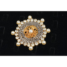 De Liguoro Vintage Haute Couture Gold and Silver Metal Brooch Pin - $118.80