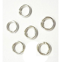 100pc bright silver finish 10mm jump ring gauge 17-1410 - $1.65