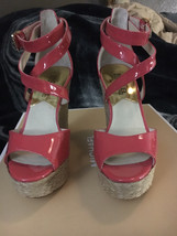 NWB! Michael Kors Gabriella Patent Leather Platform Wedge Sandals Size 5 - $72.00