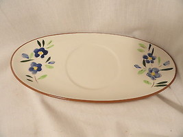 Stangl Country Cardens Gravy Underplate Blue Flowers Mint - $2.49