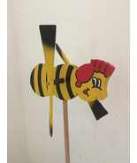 Wooden Windmill Small Bee Wind Spinner Whirligig Folk Art Hand painted 2... - $15.98