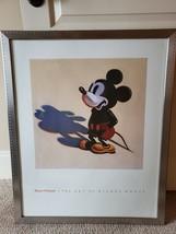 Disney The Art of Mickey Mouse Art Print Framed Signed Wayne Thiebaud 1988 - $257.39