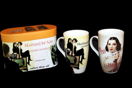 2 Comical SASSY Whimsical Husband for Sale & High Maintenance Tall Mugs NIB DISC - $16.99