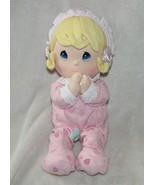 Precious Moments Baby Girl Doll Pink Pajamas Prayer Praying Non-working - $29.69