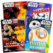 4 Pack Star Wars The Force Awakens Jumbo Double Sided Tear & Share Color... - $9.98