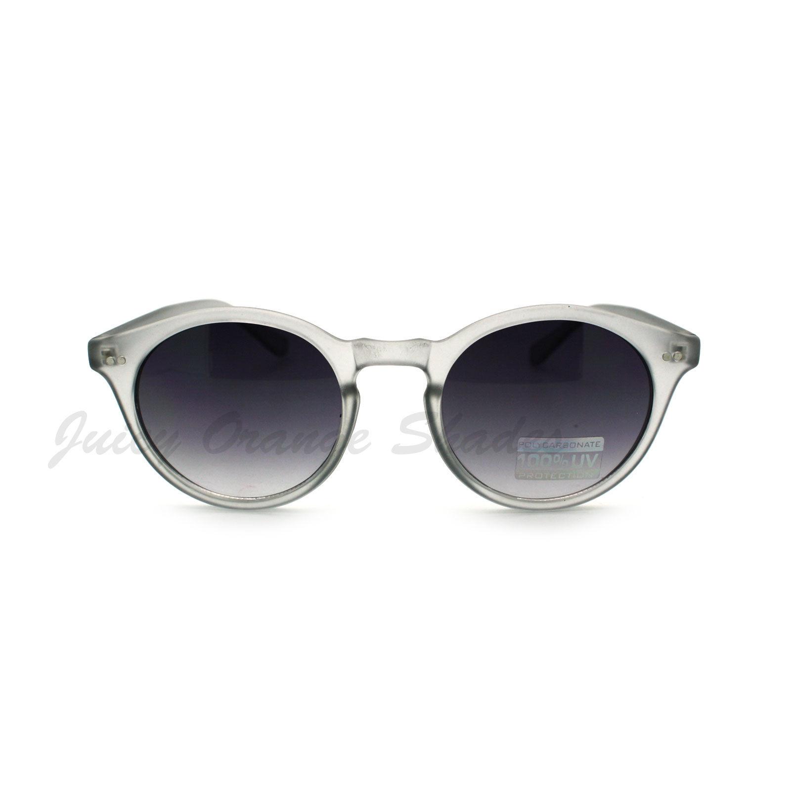 Unisex Vintage Retro Sunglasses Thin Round Keyhole Frame