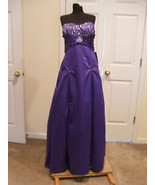 nwt $289 jump apparel purple beaded Bridesmaid prom Pagent formal  Gown ... - $95.78