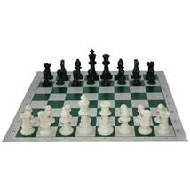 Standard Solid Plastic Chess Board Set Portable Travel Children's Puzzle... - $22.43