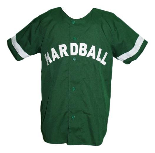 Lil wayne hardball movie baseball jersey button down green   1