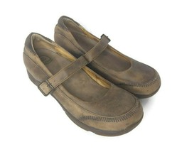 Dansko Kate Stone Brown Distressed Leather Mary Jane Shoes Size 42 (11-11.5 US) - $42.56
