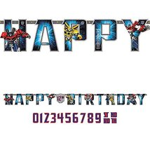 amscan Transformers Add-an-Age Letter Banner image 2