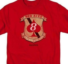Battlestar Galactica Red Aces Badge Sci-Fi TV series graphic adult tee BSG284 image 2