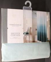 "Decorative Threshold 72"" x 72"" Shower Curtain OMBRE COOL - AQUA blue New... - $17.81"