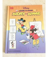 Disney Learn to Draw : Mickey and Minnie by Walter Foster (1991, Hardcover) - $7.69