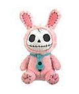 SUMMIT COLLECTION Furrybones Pink Bunny Bun Bun Wearing Polka Dotted Blu... - $14.84