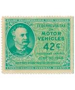 RV53 42c 1946 Motor Vehicle Stamp unused - £18.98 GBP