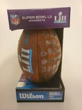 New Pee Wee Wilson Nfl Super Bowl Lii Commemorative Football 02-04-18 - $39.59