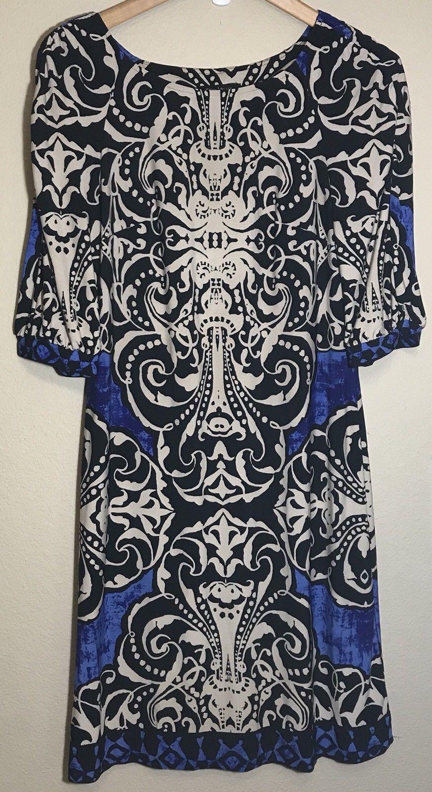 3698f0ee77178 NWOT White House Black Market Blue Cream 3/4 and 50 similar items