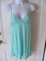 Victoria's Secret Mint Green Slip Teddy Lingerie Size M Women's EUC - $17.60