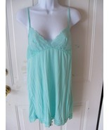 Victoria's Secret Mint Green Slip Teddy Lingerie Size M Women's EUC - $17.38