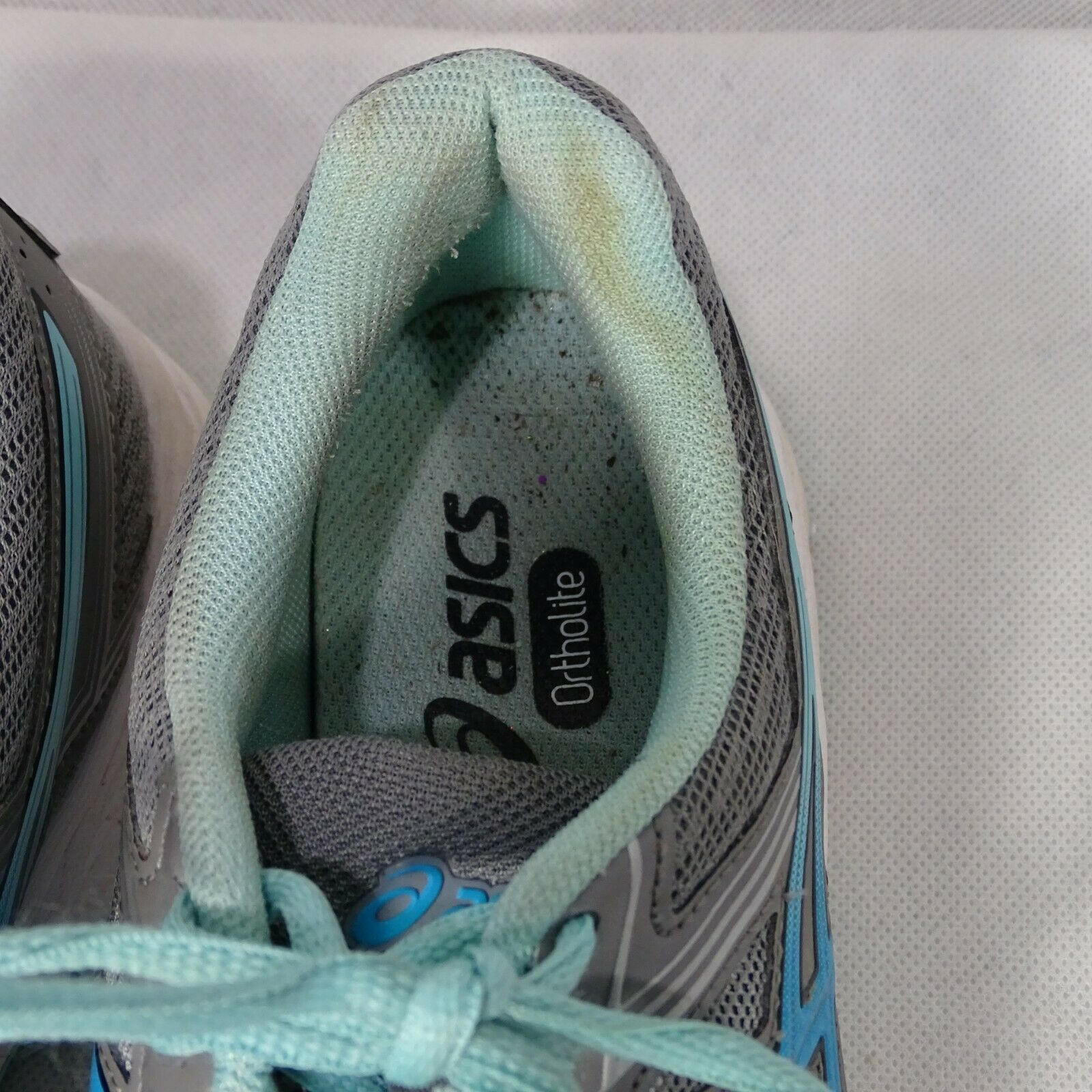 Asics Gel-Contend 4 Ortholite Sneakers Shoes Mesh Women Size 7 Gray Blue T767Q