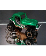 Jeep Wrangler Rock Crawler Off Road 4x4 Key Chain Ring Green - $15.19