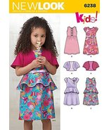 Simplicity Creative Patterns New Look 6238 Child's Dress and Knit Bolero... - $9.80