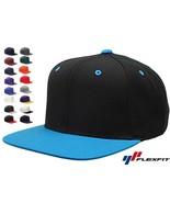 50 Lot Classic Snapback Snap Back Baseball Blank Plain Hat Caps Yupoong ... - $306.08