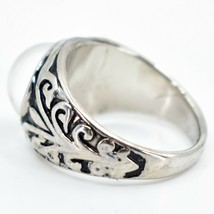 Vintage Inspired Silver & Black Painted Color Changing Round Cabochon Mood Ring image 2