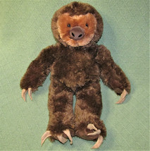 "17"" BUILD A BEAR TALKING SLOTH 3 TOED STUFFED ANIMAL PLUSH HANDS STICK T... - $19.80"