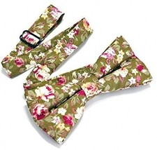 Cotton Floral Neckwear Men's Bow Tie Apparel Suit Tie For Men (MLJO24) - $18.74