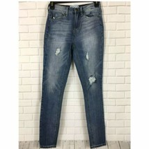 Mudd Womens Jeans Juniors Size 1 Distressed Destroyed High Rise Jeggings - $6.29