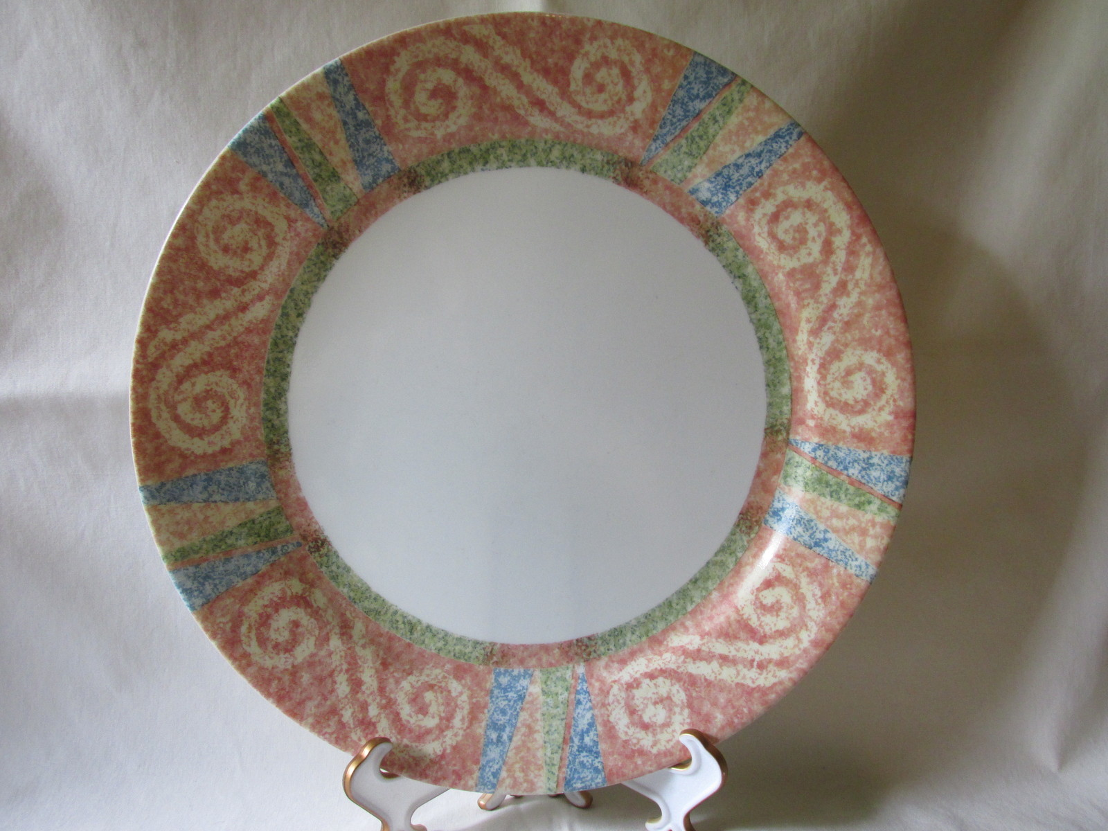 "Corelle ""Sand Art"" Dinner Plate & Salad/Dessert Plate - Discontinued in 2004"