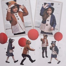 Simplicity Sewing Pattern 1477 Girls Child Fox Racoon Felt Jacket Size 3... - $12.30