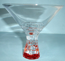 Nachtmann Riedel Bossa Nova Crystal Martini Glass (1) Amber Foot New - $22.90