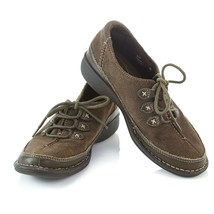 Clarks Artisan Brown Suede Lace Up Oxfords Fashion Sneakers Shoes Womens 6 M - $34.53