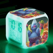 Trolls Toys Movie Cartoon #09 Led Alarm Clock Figures LED Alarm Clock - $25.99