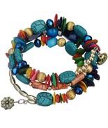 Bohemian Style Natural Stone Wrap Bracelet - £13.69 GBP