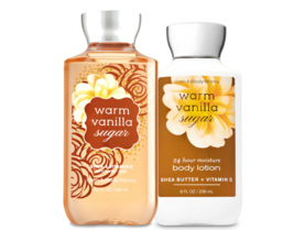 BATH & BODY WORKS Warm Vanilla Sugar Body Lotion + Shower Gel Set - $25.63