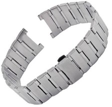 Bracelet FITS Omega Constellation steel SILVER strip band black 22mm - $55.00