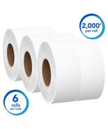 """Scott Jumbo Roll Bathroom Tissue, 2-Ply, 12"""" dia, 2000ft (Case of 6) - $57.85"""