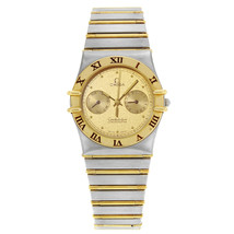 Omega Constellation Vintage Steel Gold Quartz Unisex Watch 3333.76.70 - $1,764.38