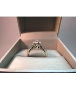 JWBR 10k White Gold Diamond Engagement Cocktail Ring Antique Style 6.24g... - $395.99