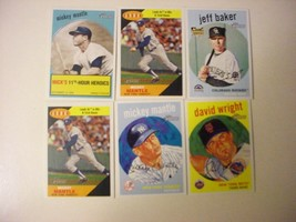 (7) 2008-9 Topps Heritage Baseball Cards-ex/mt Mantle's-Inserts - $10.50
