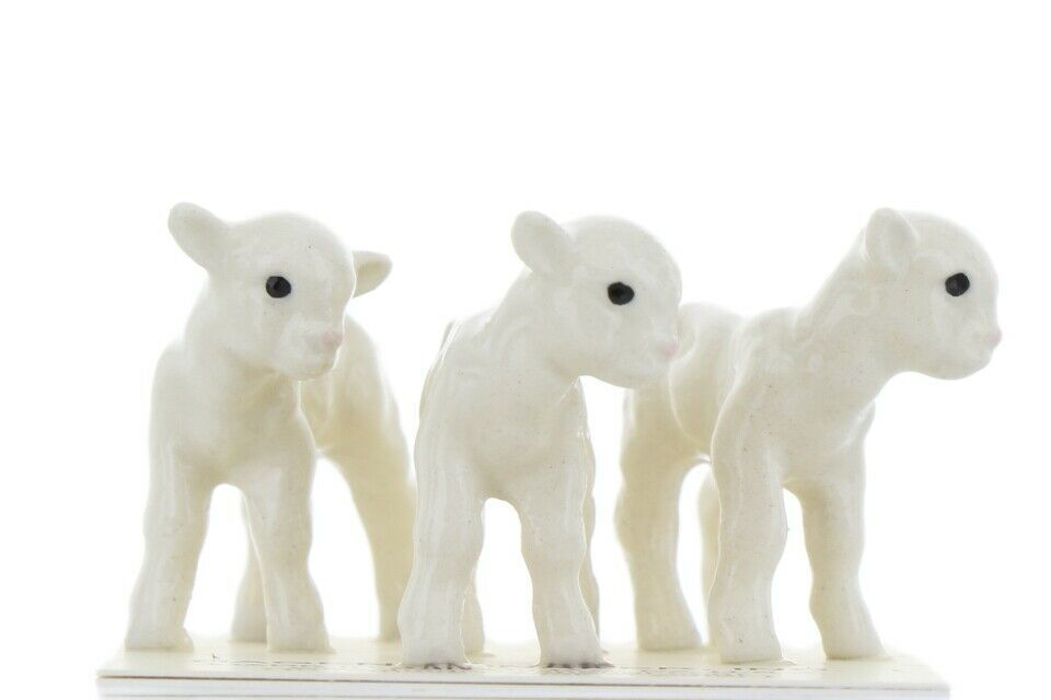 Hagen Renaker Miniature Lamb Babies Set of 3 Ceramic Figurines