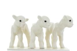 Hagen Renaker Miniature Lamb Babies Set of 3 Ceramic Figurines