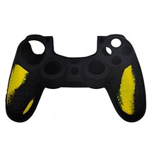 Sony PS4 Playstation 4 Silicone Skin Case Protective Cover - Black-Yellow - $38.41