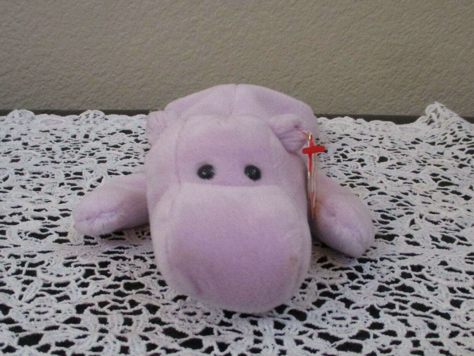 Primary image for Ty Beanie Baby Happy The Hippo 4th Generation Hang Tag 3rd Generation Tush Tag