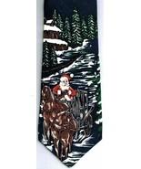 Rossetti Uomo Christmas Necktie Classic Navy Blue  100% Silk - $18.95